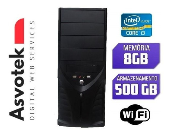 Computador Cpu Pc Intel Core I3 8gb Hd 500 Wifi Barato