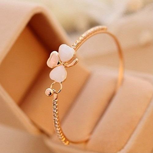 Pulseira Feminina Folheado Ouro 18k Bracelete Dourado Barato