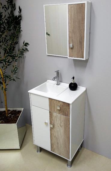Gabinete / Armário P/ Banheiro Madri - Balcão+espe+cuba 50cm