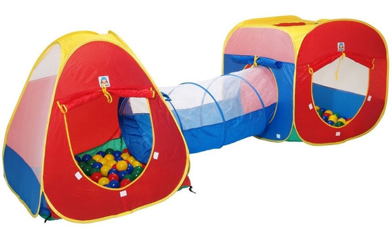Toca Túnel Barraca Infantil 3x1 - Melhor Preço