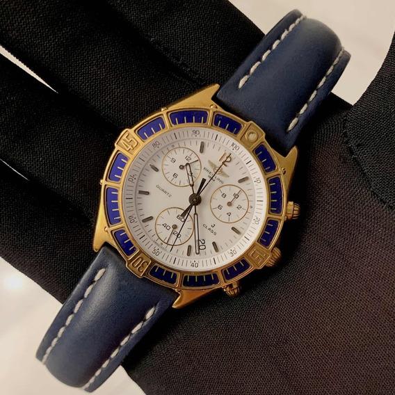 Breitling J Class De Ouro Amarelo Chronograph , Raro , Show