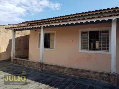 Entrada R$ 40.000,00 + Saldo Super Facilitado, Casa Com 2 Dormitórios, 85 M² - Balneário Itaguaí - Mongaguá/sp Lote Grande Inteiro Pronta P Morar - Ca3244