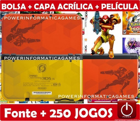 New 3dsxl Samus Edition 2000 Jogos 64gb + 4 Brindes