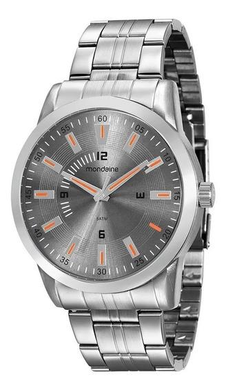 Relógio Masculino Mondaine Prata 99088g0mvne1 Visor Cinza