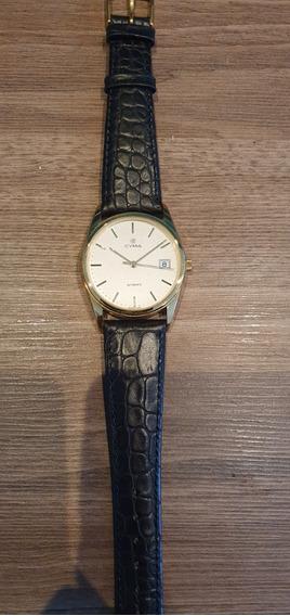 Relógio Suíço Cyma Automatico Dourado