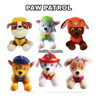 Peluches Paw Patrol X3 Marshall Chasse Sky Everest Rubble