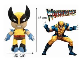 Wolverine Em Pelúcia Antialérgica 45 Cm Altura