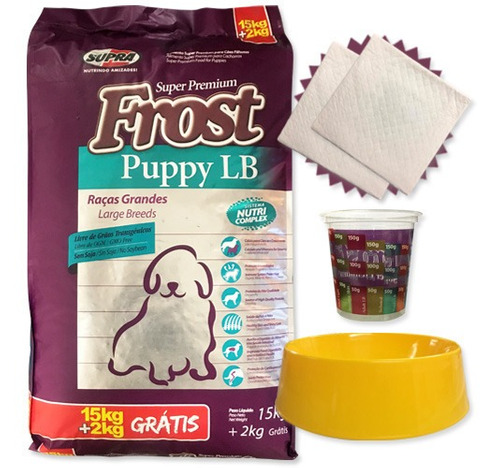 Comida Frost Puppy Lb 15k + 2k + Regalos Y Envío Sin Costo*