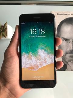 iPhone 7 Plus Preto Fosco 128gb - Impecavel - Ver Descrição
