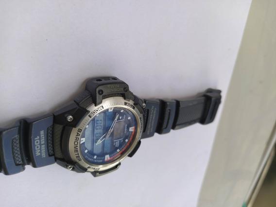 Relógio Casio Sgw-400h (funciona, Sucata Leia A Descrisão)