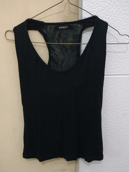 Musculosa Sweet Color Negro Talle 1
