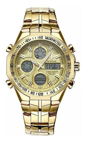 Relógio Masculino Original Wwoor Luxo 100% Funcional Oferta