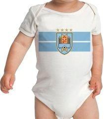 Body Infantil Bebê Personalizado Nome Time Seleção Uruguai