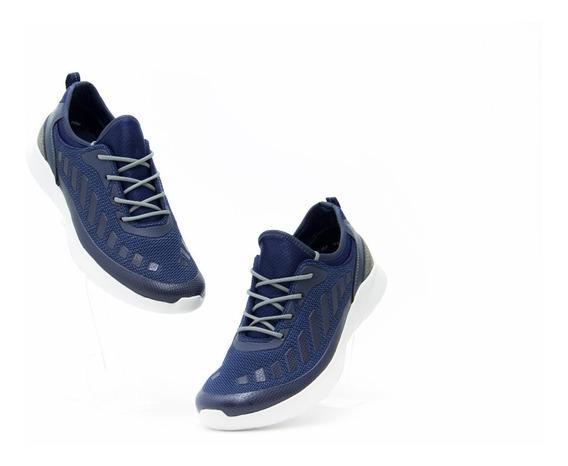 Zapatos Comodos Caballero Flexi 73701 Azul 100% Originales