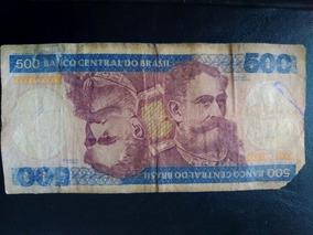 Nota Antiga De 500 Cruzeiros