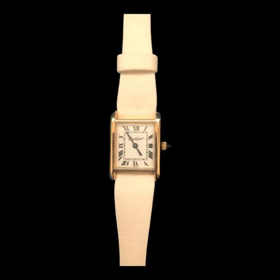 Relógio Cartier Tank Louis Quadrado Plaquê . Dia Dos Pais