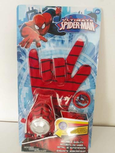 Imagen 1 de 2 de Guante Lanza Tazos Spiderman Juguete Para Niños