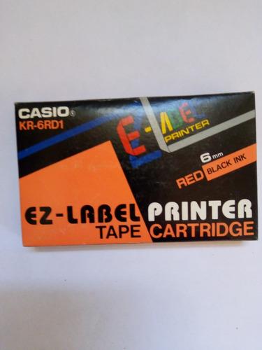 Cinta Etiquetadora Casio De 6mm