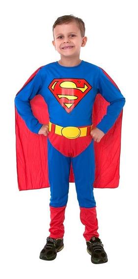 Disfraz Superman Liga Justicia Orig Sulamericana Mundomanias