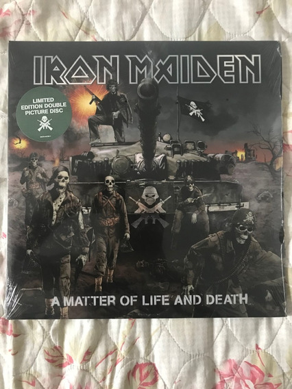 Iron Maiden A Matter Of Life And Death Vinil Lp Picture Novo