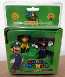 Lata Super Mario Edição Limitada - Miniatura Luigi E Troopa