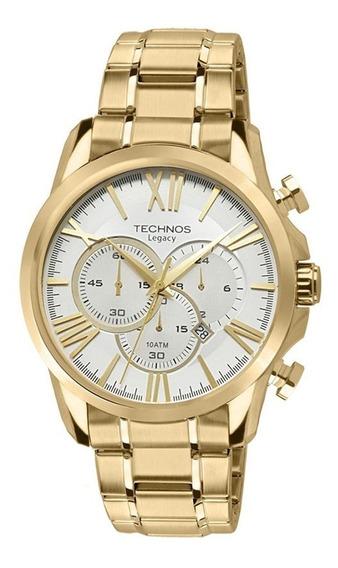 Relógio Technos Masculino Dourado Grandtech Os20ef/4k
