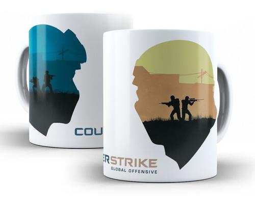 Imagem 1 de 3 de Caneca Cs Go Counter Strike Em Cerâmica