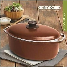 Liquido Ya! Cacerola Ovalada 30cm Cucina Donna - Olla Horno