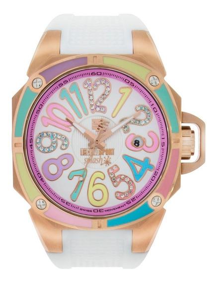 Reloj Technosport Oro Rosa Blanco