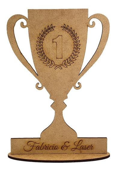 5 Trofeu Corrida Campeão Personalizado Mdf Lembrancinhas