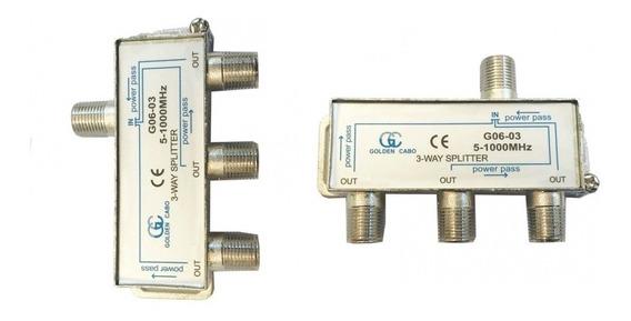 Divisor Splitter Para Antena 1x3 Gc 5~1000 Mhz Para Tv