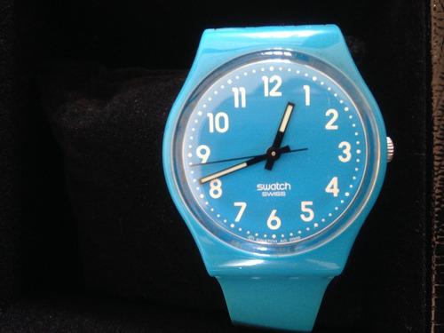 Relógio Swatch Rise Up Pulseira Azul Plástico Gs138