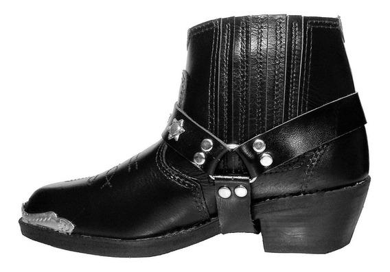 Bota / Botina Texana Country Couro Legítimo / Rodeio Cowboy