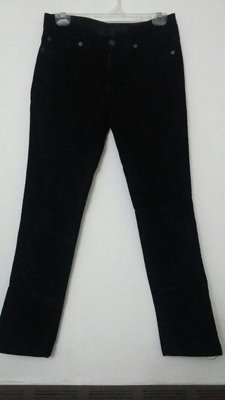 Pantalon De Corderoy Elastizado Marca Giesso Recto Spandex