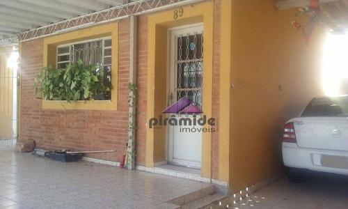 Casa Com 4 Dormitórios À Venda, 196 M² Por R$ 650.000,00 - Centro - São José Dos Campos/sp - Ca3055