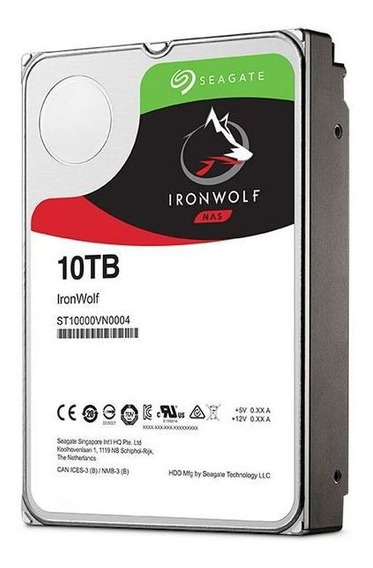 Hd Ironwolf 10tb 7200 Rpm St10000vn0004 Seagate