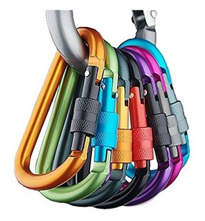 10 Colores Mosquetón De Aluminio Tornillo De Bloqueo De Prim
