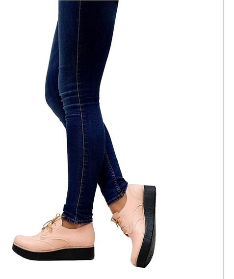 Zapatos Mujer Acordonados Clasicos Plataforma Charritos Suela Taco De Goma Mugato-bsas®