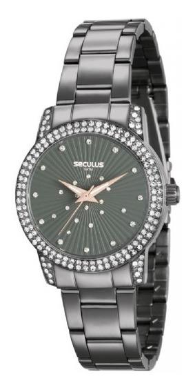 Relógio Feminino Seculus Cinza 20547lpsvss2 Analógico
