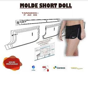 Molde De Short Doll P Ao Extg Em Tamanhos Sep. Por Correios