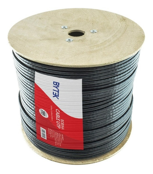 Bobina De Cable Utp Red Cat5e Exterior Blindado Doble Forro