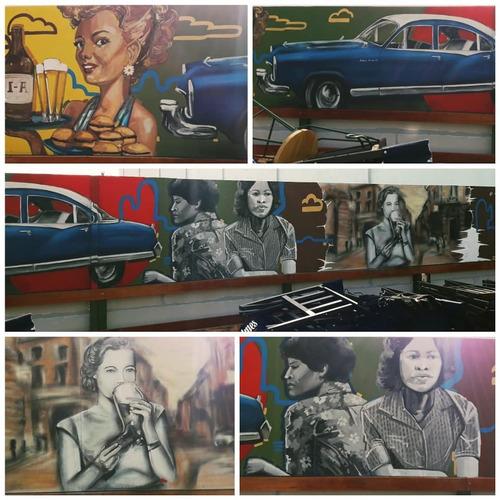Murales Grafitti Pintados A Mano Bares Restaurantes Hogar