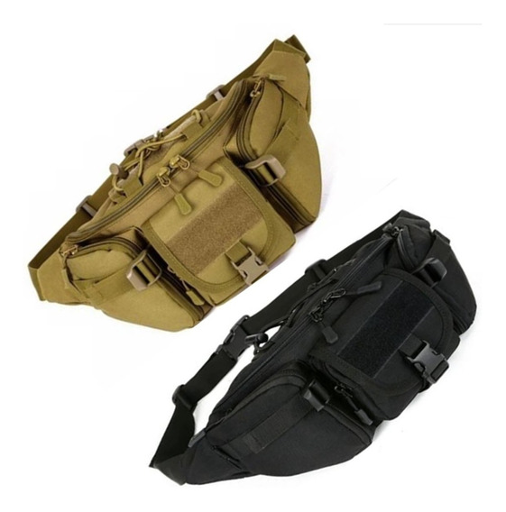Cangurera Tactico Militar Caqui Sistema Molle Indestructible