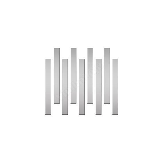 Acrílico Espelhado Decorativo Mod. Listras Retangular