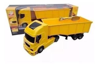 Brinquedo Caminhão Carreta Pollux Basculante