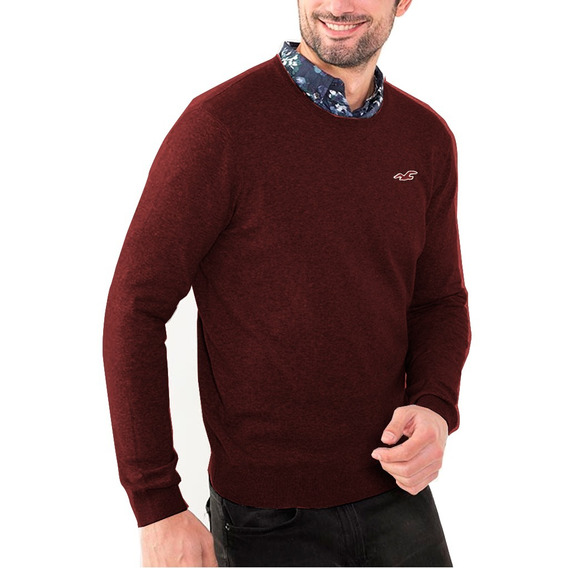 Pulovers Sweaters Buzos Hollister Cuello Redondo