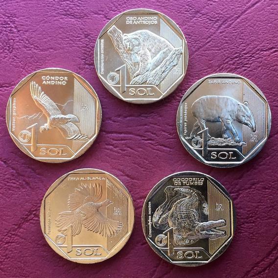 Perú - Lote 5 Monedas 2017 / 18 - Serie Fauna Amenazada