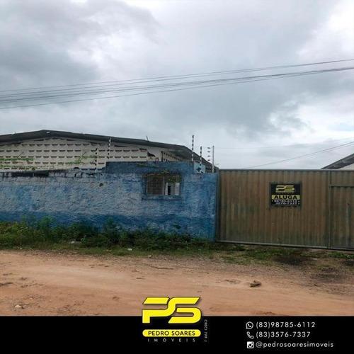 Imagem 1 de 14 de Galpão Para Alugar, 2,000 M² Por R$ 7.000/mês - Intermares - Cabedelo/pb - Ga0039