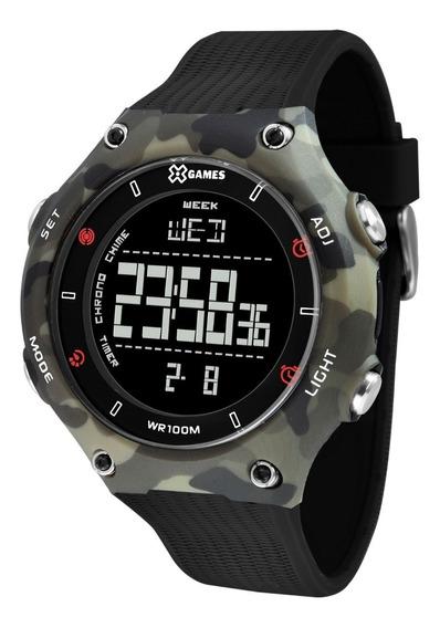 Relógio X-games Masculino Digital Xmppd566 Camuflado Preto