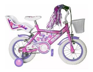 Bicicletas Infantil Nena Stark Rodado 12 Con Rueditas Nenes